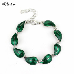 Green Leaf Charm Australia - MQCHUN Elven Leaf Charm Bracelet Desolation of Smaug Green