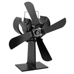 Экономичное Тепло Питание FanSilent Мини-Печки, Верхний Вентилятор 4 Лезвия Камин