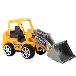 China 1PC Plastic Toy Mini Kid Inertial Vehicles Bulldozer Truck Engineering Car Building Blocks Brick Toy Educational Model Kid Gifts cheap block toys vehicles suppliers