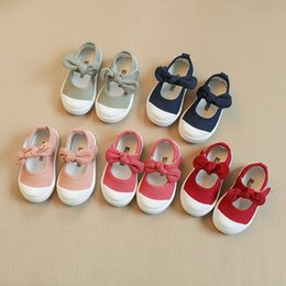 Princess Canvas Shoes NZ - Spring Kids Shoes Girls Canvas Shoes Fashion Bowknot Comfortable Kids Casual Sneakers Toddler Girl Princess