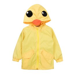 $enCountryForm.capitalKeyWord NZ - Children Kids Baby Boy Girl Clothing Long Sleeve Yellow Duck Hooded Jacket Windbreaker Coat Casual Autumn Outerwear Clothes 1-7T