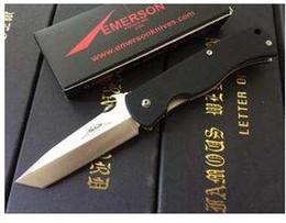 Poignée de jardin Couteau Pliant 440C Lame En Acier G10 Poignée Camping En Plein Air Survie Chasse Couteaux Poche Emerson Couteau EDC en Solde