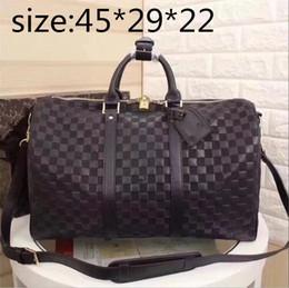 Discount designer duffle bags men - Top quality mens luxury designer travel  luggage bag men totes 8b5c23e1f8f37