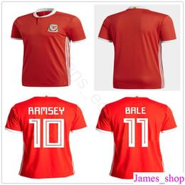 951f04fea14 Wales Soccer Jersey 10 AARON RAMSEY 11 GARETH BALE ALLEN TAYLOR WARD 9  ROBSON-KANU 6 WILLIAMS Home Red Customize Football Shirts