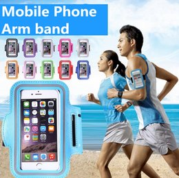 $enCountryForm.capitalKeyWord NZ - 11 Colors Outdoor Sport Cellphone Arm Bags Running Fitness Wristband Arm Bag cycle Mobile Phone Bag Noctilucan Magic sticker