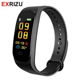 G sensor phone online shopping - EXRIZU M5 Heart Rate Smart Wristband G sensor Pedometer Blood Oxygen Blood Pressure Message Reminder Sport Bracelet for Phone