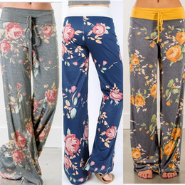 6280c7e2f44 32 Colors Women Yoga Wide Leg Pants Floral Print Sports Fitness Palazzo Trousers  Casual Loose Harem Pants Capris Boho Long Pants Plus Size