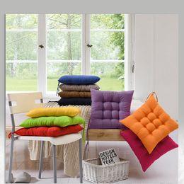 Green Office Chairs Australia - Home Office Decor Comfortable Cotton Seat Cushion Winter Office Bar Chair Back Seat Cushions Sofa Pillow Buttocks Chair Cushion 400x400mm