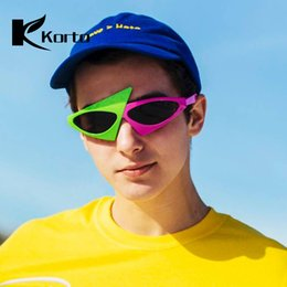 festival sunglasses NZ - Roy Purdy Pink and Green Sunglasses Trending Products 2018 Men Hippie Eyeglasses Party Rave Festival Glasses Cool Pieces Eyewear