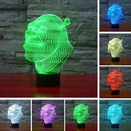 Glow baby toy online shopping - 3D Cartoon Movie Shrek Baby Sleeping LED RGB Color Change Night light Glow in the Dark Action Figure Holiday Child Favorite Toys Xmas Gifts