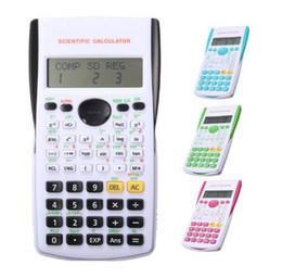 calculator batteries NZ - New Function Calculator Uniwise Handheld Multi-function Digital Display 2-Line Scientific Calculator, Shipping No Battery