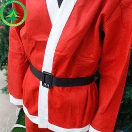 Women Velvet Clothes Australia - Christmas Santa Claus costume, Santa Claus dress, non-woven Christmas hat, clothing beard