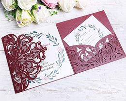 greeting card christmas new year 2018 100pcs laser cut folded invitation cards for wedding invitations