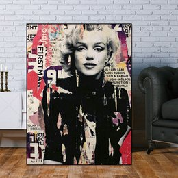$enCountryForm.capitalKeyWord NZ - Handpainted & HD Print Marilyn Monroe Portrait Oil Painting on Canvas Graffiti Wall Decor High Quality p151