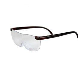 Опт Горячая 1.6 раз увеличительное очки для чтения Big Vision + 250 увеличение Мужчины Женщины Пресбиопические Очки лупа очки