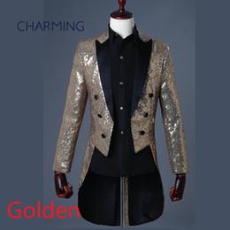 $enCountryForm.capitalKeyWord Australia - Black and gold tuxedo For the magician mens tuxedo suit stage choir symphony conductor costume singer designer tuxedo