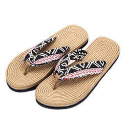 37549de009baa wholesale 35-40 Plus Size 2018 Summer Flip Flops Women Floral Metal Beach  Shoes Boho Sandals Fashion Slippers Flat Shoes For Lady