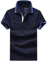$enCountryForm.capitalKeyWord NZ - Factory New Solid Men Casual Polo Shirts Big Pony Embroidery Short Sleeve Business Polos Cotton Polo Shirt Leisure Tees M-XXL