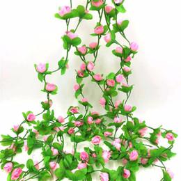 Ivy plastIc online shopping - New Design Wedding Decoration Diy m Artificial Rose Garland Silk Vine Flower Plant Garlands Ivy Home Garden Floral Decoration