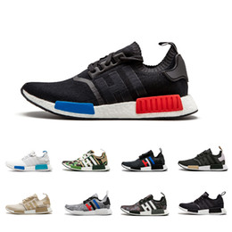 sports shoes 247fb a0e00 Adidas NMD Boost MD R1 Oreo Runner pk Nbhd Primeknit OG Triple Negro Blanco  Camo Running Shoes Hombres Mujeres zapatillas de deporte Runners hombres ...