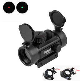 Wholesale Holographic x Red Dot Sight Airsoft Red Green Dot Sight Scope Hunting Scope mm mm Rail Mount Collimator Sight Gun Party