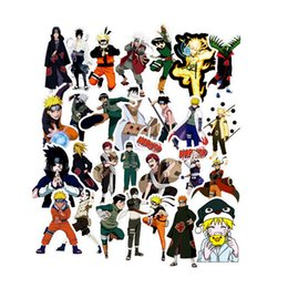 $enCountryForm.capitalKeyWord UK - 49 pcs pack Mixed Naruto Anime Sticker For Car Laptop Skateboard Pad Bicycle Motorcycle PS4 Phone Decal Pvc Stickers