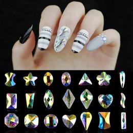 $enCountryForm.capitalKeyWord Canada - 5pcs Oval Round Heart Diamond Flatback Shiny AB Rhinestones Crystal 3D Design Glitter Nail Stones DIY Nail Art Manicure Tools