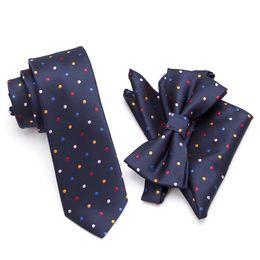 fd2a46e25367d 20 Style Neck Tie Bowtie Cravat Set,Skinny tie set, pocket square set,men  necktie,wedding ties,Polyester Black Dot fashion mens
