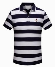 Cotton Express Australia - Express 2018 Striped Men POLO Shirts Bee Print Italian Brand Cotton Camisas Polos Summer Spring Male Polo Shirt Red 3XL