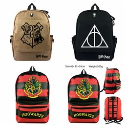 cartoon volleyball 2019 - Harry Potter Backpacks 3 Styles Canvas Hogwarts Casual Travel Bag Shoulder Bag School Bags Rucksack Travel Outdoor Backp