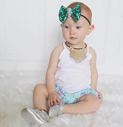 Headbands Bow Australia - 3pcs lot Boutique Nylon Headband Fashion Bow Hair Accessories Hair Handmade Fabric Flower Baby Accessories Whosales