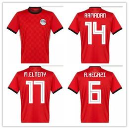 d61ec0a8e 2018 World Cup Egypt Jersey soccer M. SALAH world cup Home Red 2018 KAHRABA  national team men short sleeve footbal shirts. orange egypt deals