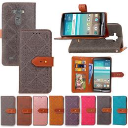 Lg G3 Card Slot NZ - Premium PU Leather Flip Fold Wallet Case with [ID&Credit Card Slot] for LG G3 G4 G5 G4stylus G6 Stylus2 Ls775 Stylo 2 K8 LV3 LV5 K10 LV1