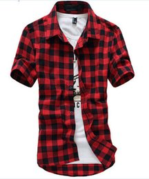 China New Arrival Fashion Short Sleeve Plaid Shirt Men's Shirt Men Dress Shirts Casual Shirt Men Teen Chemise suppliers