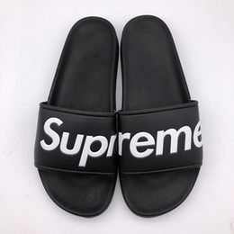 5909bf2acfde1 Hot Men Flats Sandals Non-slip Bathroom Slippers without box ss sup slipper  black red summer house shoes men slippers