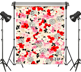 Discount backdrop flower props - Polyester Abstract Retro Custom Flowers Backdrop Background Photography Studio Props Photographic Seamless Washable No C