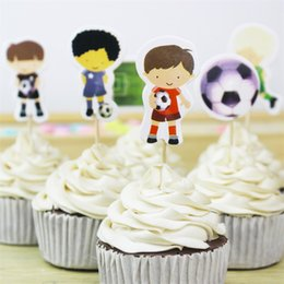 CupCakes deCorative online shopping - Football Cake Stick Baseball Sport Boys Candy Bar Cupcake Toppers Pick Baby Shower Kids Birthday Party Supplies wx gg