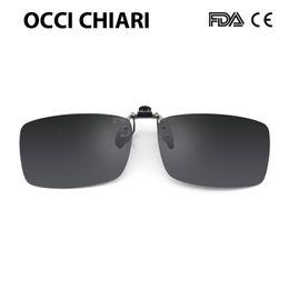 54393420a95 Men Women Flip Up Polarized Sunglasses Clip On Myopia Glasses Frameless  Night Vision Goggles Driving Glasses OCCI CHIARI UV400