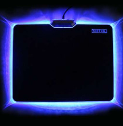 laptop rubbers UK - Hot Sale Cool Glowing Mouse Pad 300x240mm Non-skid Rubber Bottom LED Light Edge Mousepad For Laptop Desktop PC Board Video Game