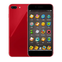 Discount wholesale touch screen tv - Goophone 8 plus 8plus 1GB RAM 4GB ROM MTK6580 QuadCore 5MP camera 5.5inch 3G WCDMA Andriod OS Sealed Box Fake 4G display