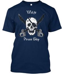 $enCountryForm.capitalKeyWord NZ - Wolfes Pirate Ship T-shirt Élégant T-shirt Men Funny Short Sleeve Thanksgiving Day Custom Plus Size Party Tee Shirts
