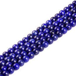 """Wholesale A Quality Natural Lapis lazuli Round Loose Beads 16"""" Per Strand 6 8 10 12 MM Pick Size For DYI Jewelry Making"""
