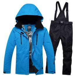 Snowboard Wear Suit Australia - 2018 RIVIYELE Unisex Women Men Ski Suit Snowboard Jacket Pant Windproof Waterproof Super Warm Thicken Outdoor Sport Wear Skiing