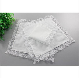 handkerchief child women Australia - Free Shipping 15pcs 18cm*20cm Wholesale Personalized White Lace Handkerchief Solid Woman Wedding Gifts Squares Cotton Handkerchiefs