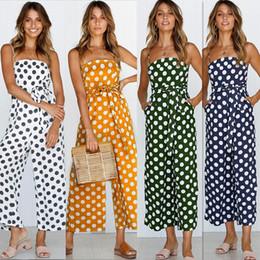 $enCountryForm.capitalKeyWord Canada - Jumpsuits For Women 2018 Summer Polka Dot Playsuit Plus Size Rompers Womens Jumpsuit Wide Leg Pants Overalls Combinaison Femme