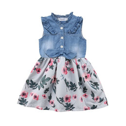 cfa0910d25 Girls denim tulle dress online shopping - Vieeoease Girls Dress Christmas  Flower Kids Clothing Summer Fashion
