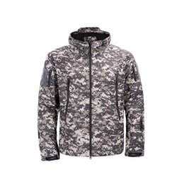 3aebbd31a1e Army Camouflage Coat Military Jacket Waterproof Windbreaker Raincoat Hunt  Clothes Army TAD Men Outerwear Jackets And Coats
