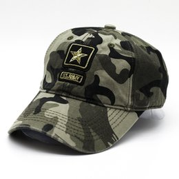 2019 Spring Summer Mens Army Camouflage Camo Cap Cadet Casquette Desert Camo Hat Baseball Cap Hunting Fishing Blank Desert Hat Quality First Men's Hats