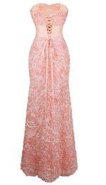 Ангел-мода с плеча шифон цветы Ruched длинные вечерние платья розовый VESTIDO де NOVIA 343