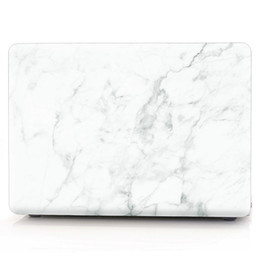 "laptop hard cases shells UK - Marble Pattern Protective Shell for Macbook Pro 13 with touch bar ,Hard case for Macbook 12"" air Pro15 with touch bar(A1707)"